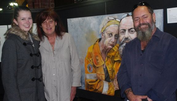 StGeorgesArt2016 PeoplesChoiceWinnerwith the two firefighters featured in the painting
